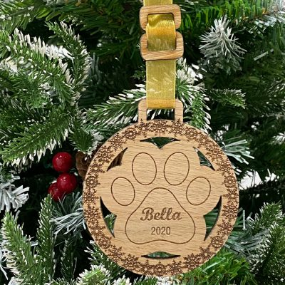 Personalised Pet Cat Bauble