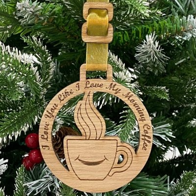 Home Decoration Coffee Smile Bauble