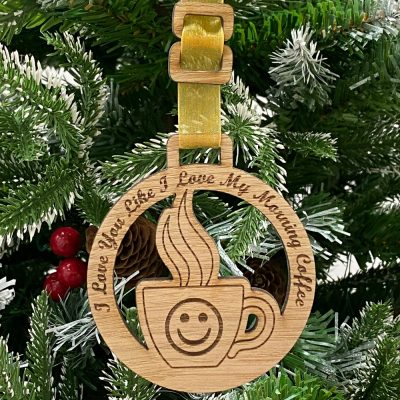 Home Decoration Coffee Face Bauble