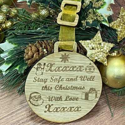 Personalised Stay Safe Bauble