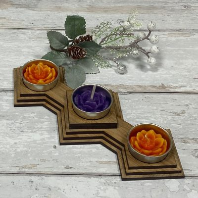 Tea Light Diamond Wooden