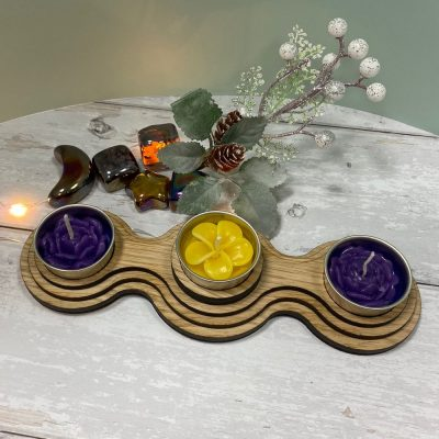 Tea Light Circle Wooden