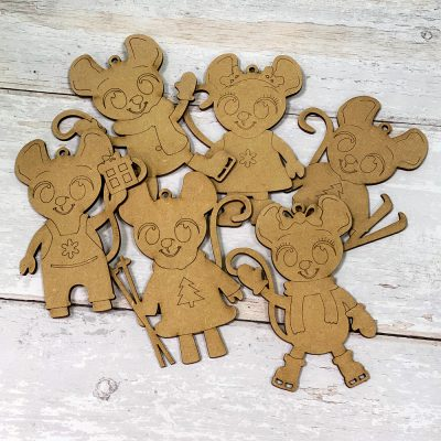 Paint it Craft Mice Family - Pack of 6