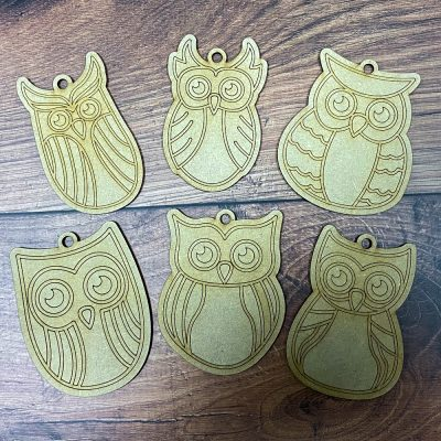 Paint it Craft Owl Family - Pack of 6